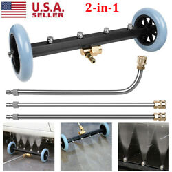 Pressure Washer Undercarriage Surface Cleaner Under Car Water Broom With 3 Wand
