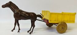 Ultra Rare Wind-up Marx 'auto Mac' Horse Pulling Dumping Cart Toy
