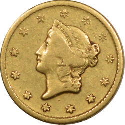 1849-o Gold Dollar - Pleasing Circulated Example
