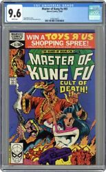 Master Of Kung Fu 1974 Marvel 93 Cgc 9.6- Mike Zeck Shang-chi