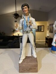 1977 Mccormick Elvis Presley Decanter With Music Box Love Me Tender 15 No Box