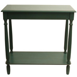 Decor Therapy Console Table 29 In. Antique Teal Rectangle Wood With Storage