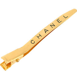 Hair Clip Logo Vintage Gold Metal Gp Women And039s Accessories No.2889