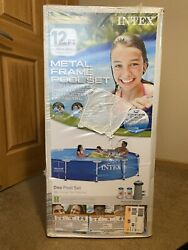 Intex 12and039 X 30 Metal Frame Above Ground Pool With Pump And Filter