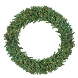 Northlight 6and039 Deluxe Windsor Pine Artificial Christmas Wreath - Clear Lights