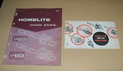 Oem Homelite Muscle Saw Chainsaw Xp1020 Xp1130 1966 1967 Early Parts List Manual