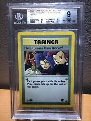 Here Comes Team Rocket Trainer 15 1st Edition Bgs 9.0 Mint Holo Pokemon Card