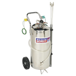 Tp200s Sealey Air Operated Fuel Drainer - Stainless 40ltr [engine]