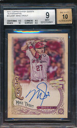 2017 Topps Gypsy Queen Autograph Mike Trout Bgs 9
