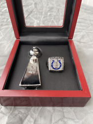 2006 Indianapolis Colts Super Bowl Ring And Vince Lombardi Trophy Set