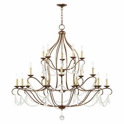 Livex Lighting Hand Applied Venetian Golden Bronze Chandelier 6439-71