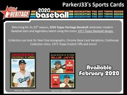2020 Topps Heritage Complete Base Set Cards 1-400