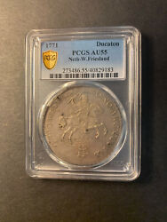 Netherlands West Friesland Silver 1 Ducaton 1771 About Uncirculated Pcgs Au55