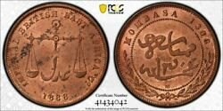 British East Africa Mombasa Bronze Pice Ah1306 1888 Uncirculated Pcgs Ms63 Rb
