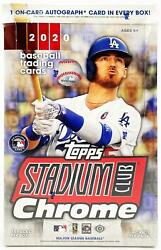 2020 Topps Stadium Club Chrome Baseball Factory Sealed Hobby Box New