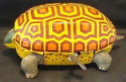 Vintage 1960s Wind-up Tin Turtle By Alps Toys Made In Japan Rare