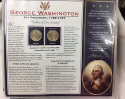 Us Dollar Coins Book 40 Coins Us Presidential Dollar Collection Presidents 1-20