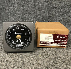 Vintage Marsh Serviceman Refrigeration Service Thermometer -40° To +65° F Nos