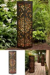 40 Inch Lighted Patio Pillar Illuminated W/ 80 Led Lights Weather Resistant