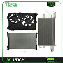 Electric Engine Radiator Condenser Cooling Fan For 2010 2011 2012 Lincoln Mkt