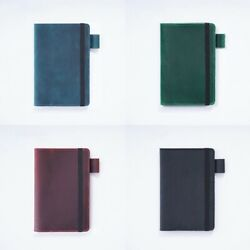 Unisex Cowhide Notebook Multi-functional Travel Leather Portable Diary Notebook