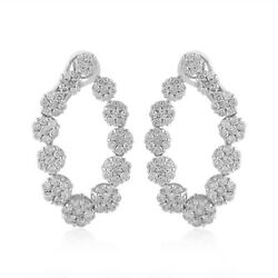 Natural 4.90 Tcw Hi Color Si Clarity Diamond Pave Stud Earrings 14k White Gold