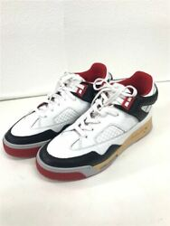 Men 8.0us Maison Margiela 20aw/deadstock Basket Low Red/41/wht/leather/s37ws0561