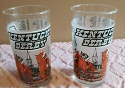 Lot Of 2 Vintage 1980 Kentucky Derby Glass Cups