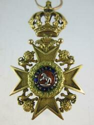 Antique 19th Century United Kingdom 18ct Gold Royal Guelphic Order Breast Badge