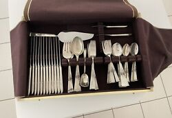 Reed And Barton Classic Rose Sterling Silverware Set 1954 79pc Read Description