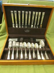 Vintage Reed And Barton Classic Rose Sterling Silver 6 Pc Place Setting For 8 Set