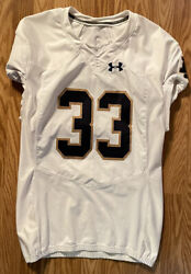 Notre Dame Football 2015 Game Used Under Armour 33 Josh Adams Shows Use