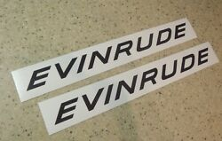 Evinrude Vintage Outboard Motor Decal 10 2-pk Free Ship + Free Bass Fish Decal