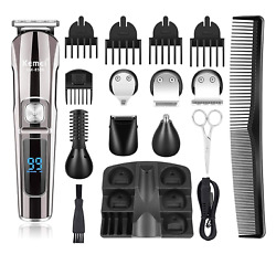 Kemei Hair Clippers Beard Trimmer Mens Grooming Kit With Trimmer For Beard, And