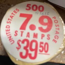 Rare 1976 7.9 Cent Stamps 500 Stamp Coil Roll Original Wrapping Beat The Drum