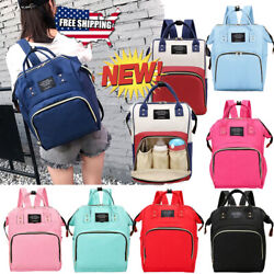 Living Traveling Share Baby Diaper Bag Multi Function Waterproof Backpack Nappy $14.99