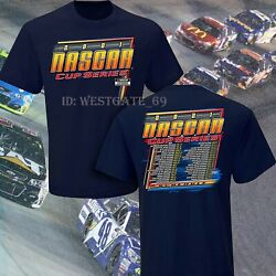 Rare Checkered Flag Sports 2021 Nascar Cup Series Schedule T-shirt, All Size