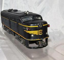 Lionel 2032 Erie Alco Powered A Black And Yellow Diesel Serviced Running 1952-54