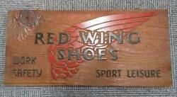 Red Wing Authorized Retailer Display Wooden Plate 1970-1980and039s