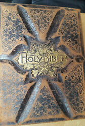 Vintage Rare Parallel Column Edition Holy Bible From The 1880and039s