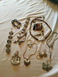 11 Piece Brighton Jewelry Lot Vg+ Retired And Hard To Find Pieces Free Tins