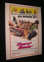 Original 1967 Track Of Thunder 30 X 40 Racing Classic Tommy Kirk Make Offer