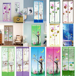 Magnetic Door Net Hands-free Mosquito Screen Mesh Anti Bug Insect Curtain Summer
