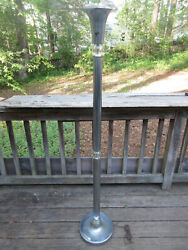 Vintage Wright Mcm Floor Lamp Torchiere Glass And Aluminum 61 Mid Century Modern