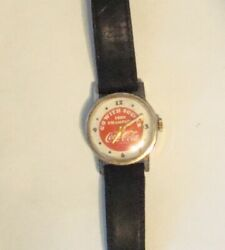 Vintage Go With Soccer 1980 Champion Coca-cola / Coke Wrist Watch Swiss Made