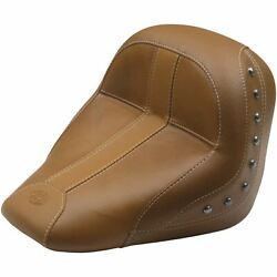 Mustang Motorcycle Products Solo Seat Leather And Vinyl - Brown Brown 75391mv