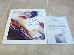 Paul Mccartney Beatles Signed Tripping The Live Album Lp Flat Frank Caiazzo Coa