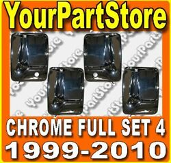 Ford F250 F350 Super Duty Pu Pickup Truck Front Rear Outside Chrome Door Handles