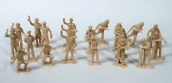 20 Nrmt 1960's Marx Cape Canaveral Missile Base Ground Crew Playset 45mm Figures