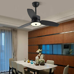 40 Vintage Ceiling Fan With Led Light Remote Control 3-blade Timing Function Us
